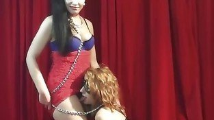 Dominant MILF Misa has backstage fun with tee