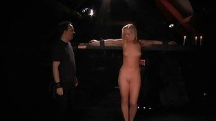 Liana plugged in holes  while spanked in bdsm