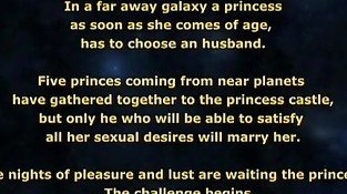 Space princess has sex