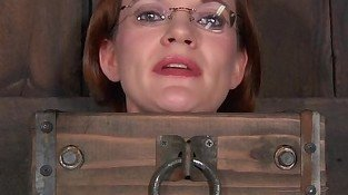BDSM sub Hazel Hypnotic neck tied up