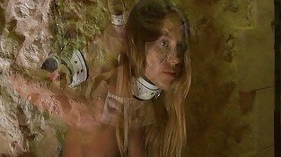 Blonde slave bondaged in the deep night