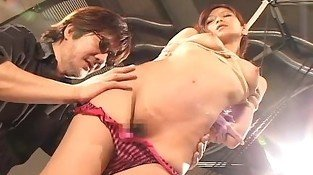 Ravishing Japanese girl is made to cum in