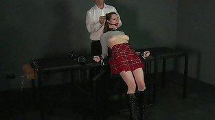 Ball gagged submissive girl fucked