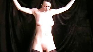 Slave Emily punished with wax and electric fl