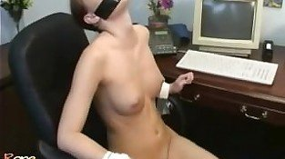 Tape Gagged & Chair Tied Bondage