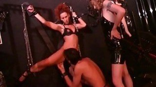 Hot domina makes this couple do kinky stuff