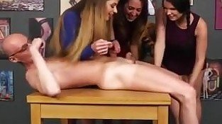 Three femdoms handjob - From DOM-MATCH.COM
