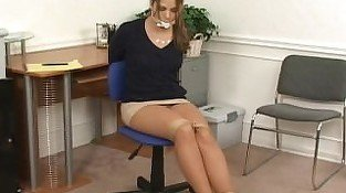 Anna chairtied and cleave-gagged