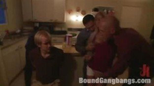 Group Slaves BDSM Gang Bang and Spanking in Bondage