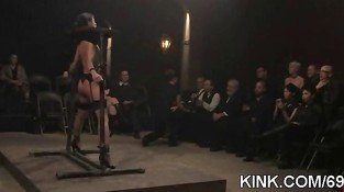 Hot pretty babe dominated bdsm 7