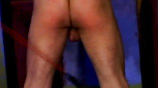 Submissive slave Receives a rough whipping