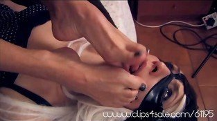 Footsmother Fight Lesbian Foot fetish Feet Licking Sucking
