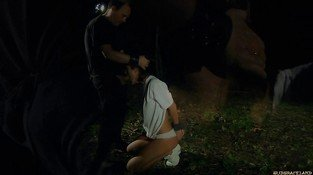 Tina Hot is punished and oppressed in outdoor bdsm action