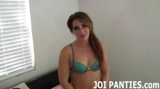Teasing your hard prink with my silk panties JOI