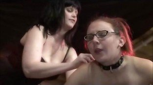 Lesbian In Glasses Spanked And Toyed