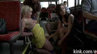 bitches in bus love to cause a bdsm some commotion