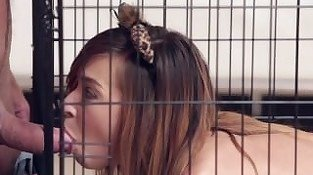 PunishTeens - Slutty Caged Teen Obeys Her Master