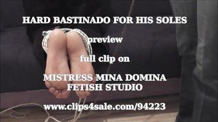 HARD BASTINADO FOR HIS SOLES