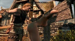 Perils of escaped Skyrim slavegirl 08